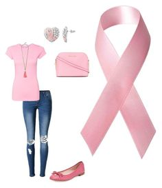 """Breast cancer awareness"" by jennamaeve3 on Polyvore featuring BaubleBar, Kate Spade and MICHAEL Michael Kors"