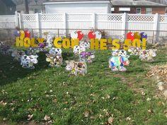 birthday yard signs | holy cow lawn greeting, lawn sign, birthday lawn signs