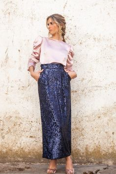 Vestido Multicolor, Lace Skirt, Sequin Skirt, Wedding Skirt, Fashion 2020, Classy Outfits, Jumpsuits For Women, Hijab Fashion, Women Wear