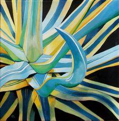 """Blue Agave plant"" original fine art by Ria Hills"