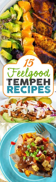 Low Unwanted Fat Cooking For Weightloss 15 Of The Best Vegan Tempeh Recipes Simple, Delicious Tofu Recipes, Whole Food Recipes, Cooking Recipes, Healthy Recipes, Recipies, Vegan Foods, Vegan Vegetarian, Vegetarian Recipes, Vegan Main Dishes