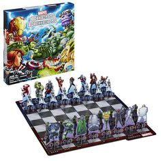 Chess is a game of strategy, and now it is a game of superheroes thanks to Marvel Comics Chess. All of your favorite heroes and villains are here. Old And Teen, Geek News, Strategy Games, The Grandmaster, Gadgets And Gizmos, Marvel Universe, Card Games, Marvel Comics, Spiderman