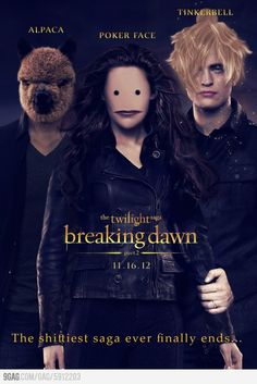Finally, no more Twilight!!! #FAIL #CreepiestThingEVER (and yes, that poker face will haunt my dreams forever)