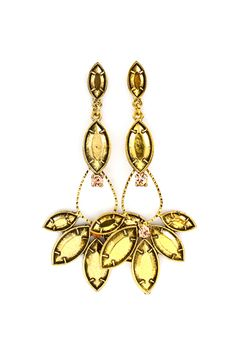 Gold on Gold Fae Marquise Earrings