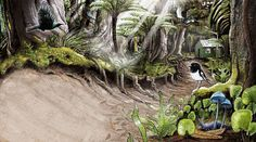 "Spread from My new book ""In the Bush, Explore and discover NZ's forests"""