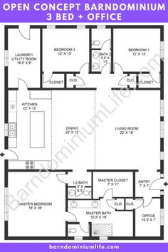 Barn Homes Floor Plans, Metal House Plans, Pole Barn House Plans, Pole Barn Homes, New House Plans, Dream House Plans, Small House Plans, House Floor Plans, Barn Plans