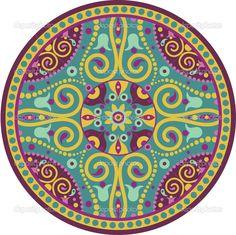 Pretty Color Mandala Dot Design