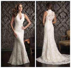 Western Lace Wedding Dresses Long Sleeve Bridal Dresses, Pretty Wedding Dresses, Wedding Dress Chiffon, Lace Mermaid Wedding Dress, Wedding Dress Trends, Bridal Gowns, Wedding Ideas, Rustic Wedding Gowns, Western Wedding Dresses