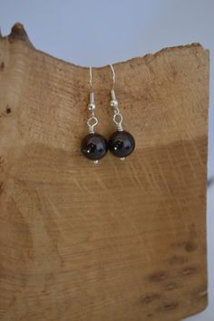On Sale Simple and Classic Red Garnet Earrings - Cancer Charity. $5.00, via Etsy.