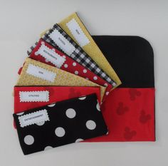 CASH SYSTEM ENVELOPES, Cash Envelopes & Clutch- Disney Mickey (It can be used with the Dave Ramsey system)