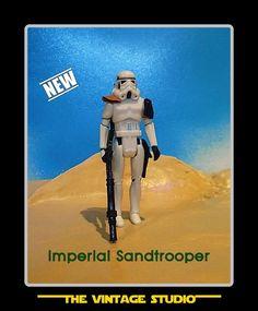 Vintage Custom Star Wars Sandtrooper (Officer) Stormtrooper Orange Pauldron  #TheVintageStudio