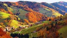 Although located mostly at latitudes north of the United States-Canadian border and thus closer to the Arctic Circle than to the equator, Germany's climate is m Forest Village, Arctic Circle, Black Forest, Creative Photography, New England, Countryside, Road Trip, Germany
