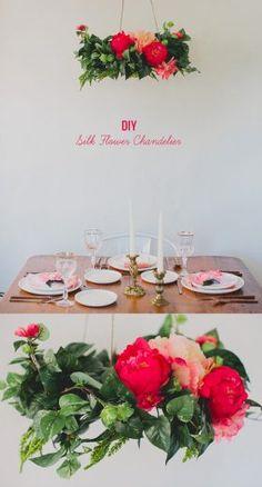 Boda de ensueño con lámparas florales DIY
