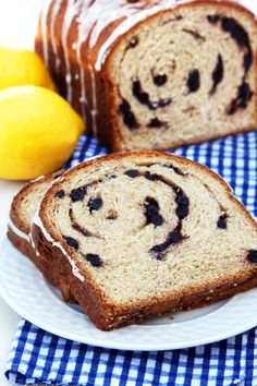 Hodgson Mill Recipe Blog   Lemon Blueberry Swirl Bread -  a sweet yeast bread with white whole wheat and Milled Flax Seed, and Chia Seed. It has a light and lovely texture with just the right amount of sunny lemon flavor and plump dried blueberries.