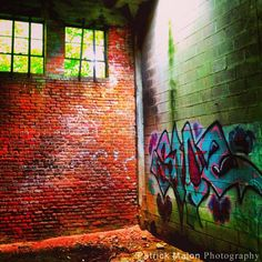 Grafitti Ruins Building With Skylight - iPhone Photography by Patrick Malon