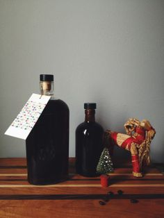 Homemade Cold Brewed Coffee Liqueur