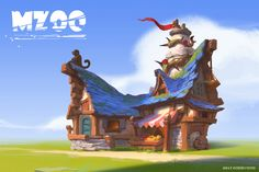 ArtStation - Monkey island house, Massive Wei