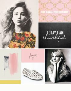 great layout and moodboard