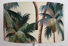 lampshade palm tree barkcloth