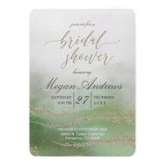 #bridal #shower #invitations - #Awash Elegant Watercolor Bridal Shower Invitation