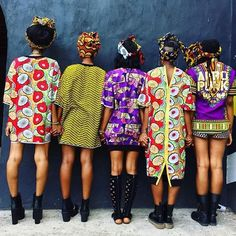 beaumondesociety: from on this brisk Tuesday ideal for a headwrap! Colors and sisterhood. A great way to warm up our hearts as we try to heal. Afro Punk Fashion, Fashion Mode, Look Fashion, African Attire, African Wear, African Dress, African Style, African Outfits, African Women