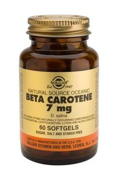 Oceanic Beta Carotene Softgels 25,000 IU 60′s  One of Solgar's premium-quality carotenoid complexes providing beta carotene plus Alpha Carotene,  Cryptoxanthin, Zeaxanthin and Lutein