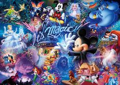 Tenyo Disney Mickey Mouse It's Magic, hologram 1000 pcs. Gifts Online Today - sell Japan jigsaw puzzle, classic and out of print jigsaw puzzles to worldwide. Disney All Characters Collection - Japanese jigsaw puzzle from Japan. Art Disney, Disney Love, Disney Mickey, Disney Wiki, Disney Characters, Disney Jigsaw Puzzles, Disneyland, Disney Cross Stitch Patterns, Disney Magic Kingdom