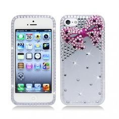 Let your #Apple #iPhone #5C #Light #Lite has the white suit with pink bow tie at @Acetag. Buy #Hard #Case #Cover - 3D White/Pink Bow Tie w/ Full Rhinestones now! Bring your phone the protection as soon as possible! $16.99