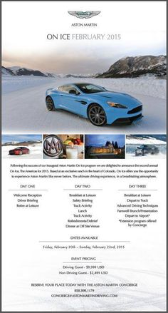 Ready for an exhilarating experience of your life? Take your driving skills to a whole new level on Aston Martin's private & custom built ice-driving track under the expert guidance of professional driving instructors! #AstonMartin #AstonOnIce #AstonMartinSummitShortHills #SpecialEvents #AstonMartinEvents #TeamAstonMartin #AstonMartinDrivingTeam