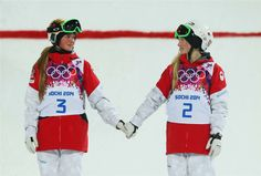 Canada: Chloé and Justine Dufour-Lapointe (sisters, gold and silver medals), 2014 Sochi Olympic Games