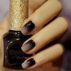 Nail Art Designs (black ombre)