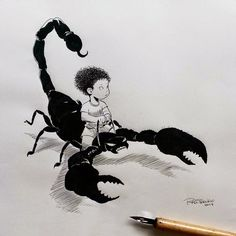 : Awesome-Robo Inktober Round-Up Trevino Art, Traditional Artwork, Artist Art, Animal Drawings, Inktober, Art Inspo, Art Reference, Character Design, Deviantart