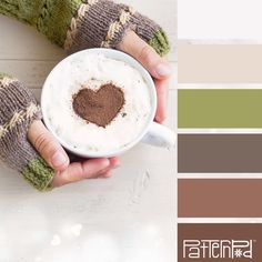 Color Palettes from Pattern Pod - Color and Design Specialists - cup, heart, cocoa, winter