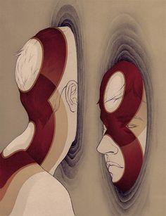 """""""À medida que o nosso conhecimento do cérebro torna-se mais abrangente, parece que a idéia da alma existe apenas nas lacunas de nosso entendimento"""". VRÁÁÁÁ!!! E é assim, sambando com a tamanca da polêmica, que Ashley Mackenzie apresenta suas ilustrações. A fia toda trabalhada na... (Leia +)"""