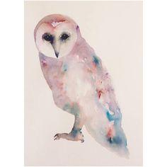 Uil schilderij-owl painting-dier schilderij uilen kunst