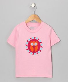 Take a look at this Blush Owl Organic Short-Sleeve Tee - Toddler & Kids by All Good Living Kids on #zulily today!