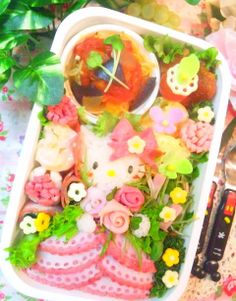 Dressy hello kitty bento