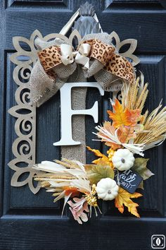 Fall Wreath DIY Using a Wooden Frame!