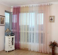 cortinas transparentes para el salón moderno