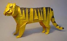 This is a picture of an origami tiger