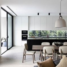 @cannygroup has a knack for paring shades and textures to elevate a restrained design.  Featuring Miele appliances.  #eands #eandskitchen #kitchen #australianhome #kitchen #openplan #reno #inspiration #dreamhome