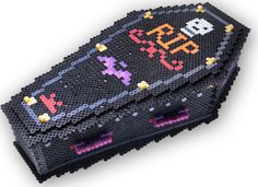3D Coffin Treat Box - Halloween Perler Project Pattern