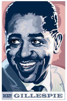 Duke Ellington - Jazz Legends by Garth Glazier, via Behance