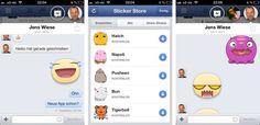 """Facebook iOS App jetzt mit neuem Newsfeed, Chatheads und """"Stickern""""!"""