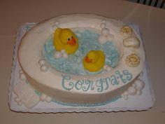Congratulations Rubber Ducky Bathtub Cake