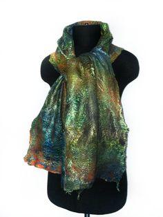 Hand dyed felted scarf by Marina Shkolnik
