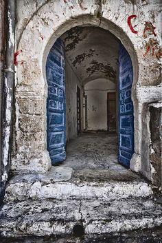 Old door in Thabit al Kalb, Al Mahdiyah, Tunisia