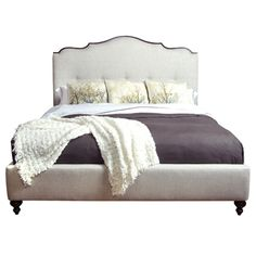 Belle Meade Signature Grayson French Upholstered King Bed Any Fabric Or Finish