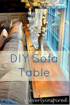 DIY sofa table @cleverlyinspired