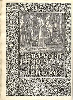 Book pages printed by the Kelmscott Press